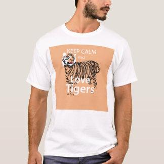 Camiseta Mantenha a calma e ame tigres