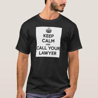 Camiseta Mantenha a calma e chame seu advogado