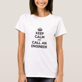 Camiseta Mantenha a calma e chame um engenheiro