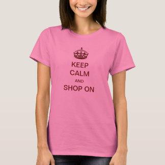 Camiseta Mantenha a calma e comprar sobre