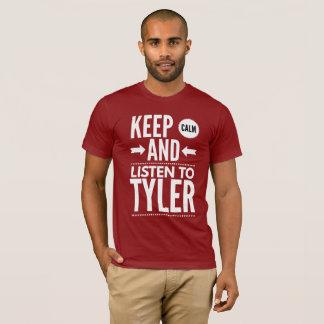 Camiseta Mantenha a calma e escute Tyler