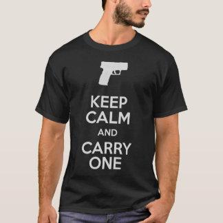 Camiseta Mantenha a calma e leve um SubCompact das armas de