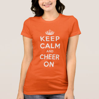 Camiseta Mantenha a calma e o elogio sobre