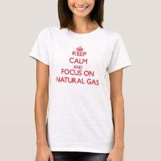 Camiseta Mantenha a calma e o foco no gás natural
