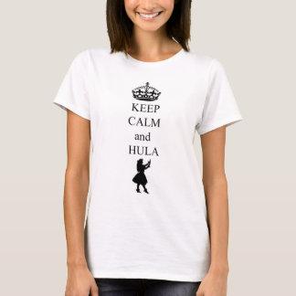 Camiseta mantenha a calma e o hula