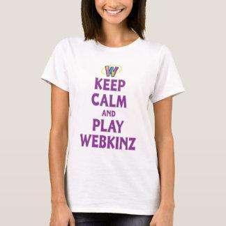 Camiseta Mantenha a calma e o jogo Webkinz