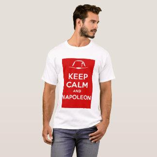 Camiseta Mantenha a calma e o Napoleon
