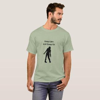 Camiseta Mantenha a calma e rasteje sobre