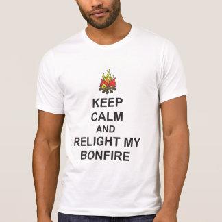 Camiseta MANTENHA A CALMA e REILUMINE MEU T da noite da