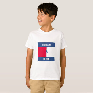 Camiseta Mantenha a calma e seja legal