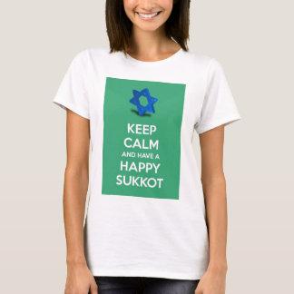 Camiseta Mantenha a calma e tenha um Sukkot feliz