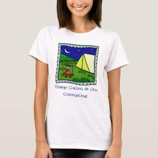 Camiseta Mantenha a calma e vá t-shirt de acampamento