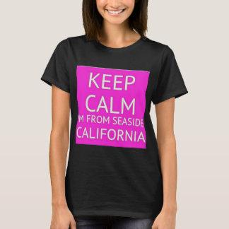 Camiseta Mantenha a calma, mim são do beira-mar Califórnia