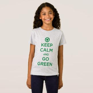 """Camiseta """"Mantenha a calma para ir verde """""""