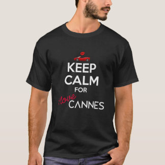 Camiseta Mantenha a calma para o amor Cannes de I