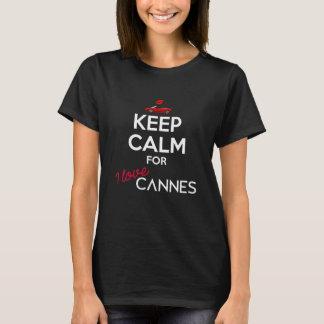 Camiseta Mantenha a calma para o amor Cannes de I para