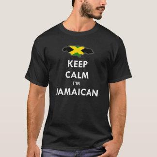 Camiseta Mantenha a calma que eu sou jamaicano