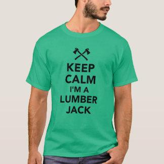 Camiseta Mantenha a calma que eu sou um lenhador