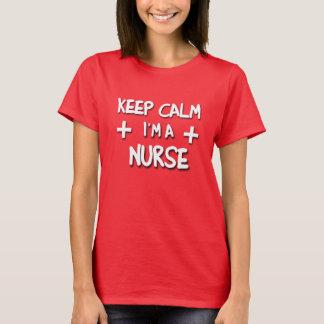 Camiseta Mantenha a calma que eu sou uma ENFERMEIRA!