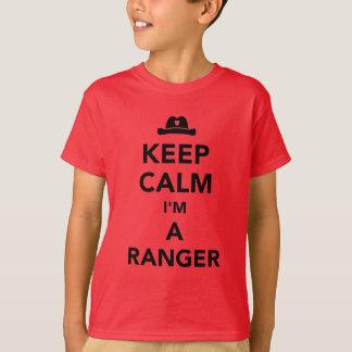 Camiseta Mantenha a calma que eu sou uma guarda florestal