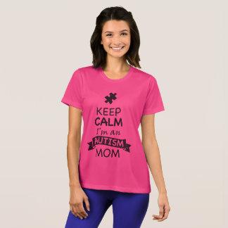 Camiseta Mantenha a calma que eu sou uma mamã do autismo