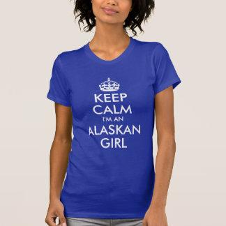 Camiseta Mantenha a calma que eu sou uma menina do Alasca