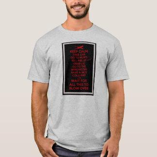Camiseta Mantenha a calma - Sean do morto