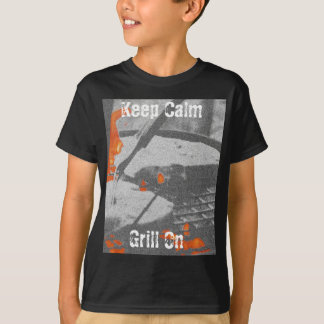 Camiseta Mantenha a grade calma sobre