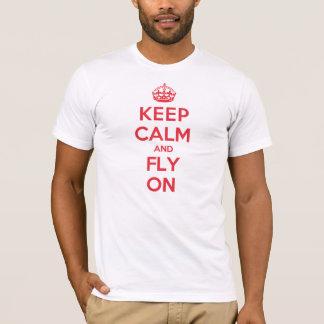 Camiseta Mantenha a mosca calma