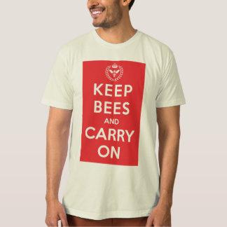 Camiseta Mantenha abelhas e continue