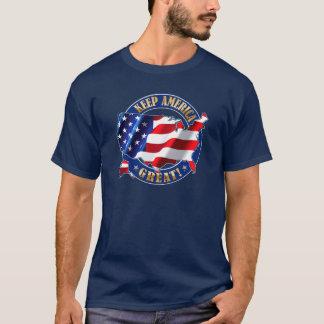 Camiseta Mantenha América grande! T-shirt 2020 do slogan do