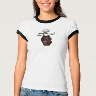 Camiseta Mantenha animais selvagens dos orangotango das