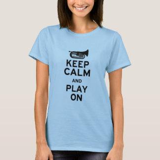 Camiseta Mantenha calmo - barítono de marcha