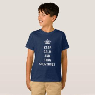 Camiseta Mantenha calmo e cante Showtunes