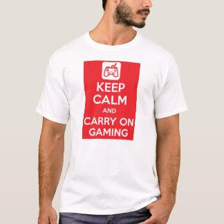 Camiseta Mantenha calmo e continue o jogo