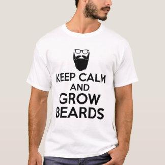 Camiseta mantenha calmo e cresça barbas