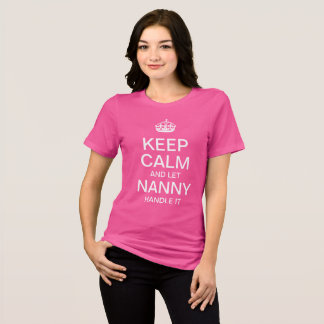 Camiseta Mantenha calmo e deixe o baby-sitter segurá-lo
