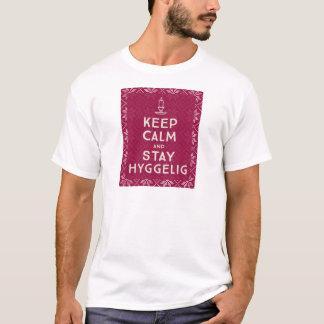 Camiseta Mantenha calmo e estada Hyggelig
