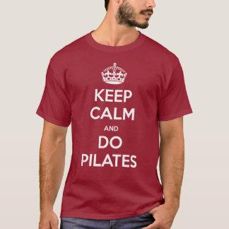 Camiseta MANTENHA CALMO e faça pilates