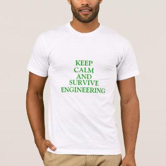 Camiseta Mantenha calmo e sobreviva à engenharia