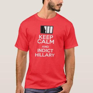 Camiseta Mantenha calmo & processe Hillary