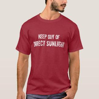 Camiseta Mantenha fora da luz solar direta