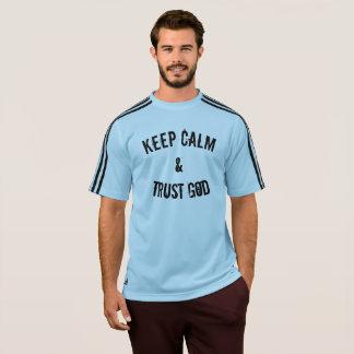 Camiseta Mantenha o deus da calma & da confiança
