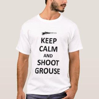 Camiseta Mantenha o galo silvestre calmo e shooy