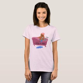 """Camiseta """"Mantenha-o"""" gato limpo dos desenhos animados em"""