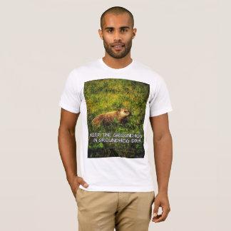 Camiseta Mantenha o Groundhog no t-shirt do dia de