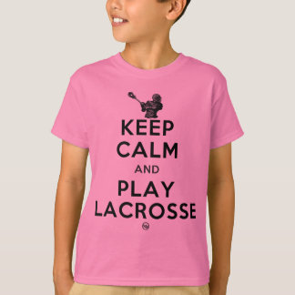 Camiseta Mantenha o Lacrosse da calma e do jogo