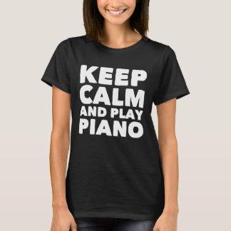 Camiseta Mantenha o piano da calma e do jogo