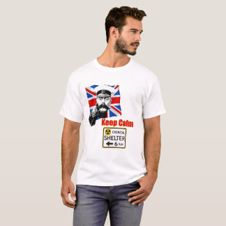 Camiseta Mantenha o Produto-Abrigo calmo