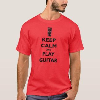 Camiseta Mantenha o T da guitarra da calma e do jogo